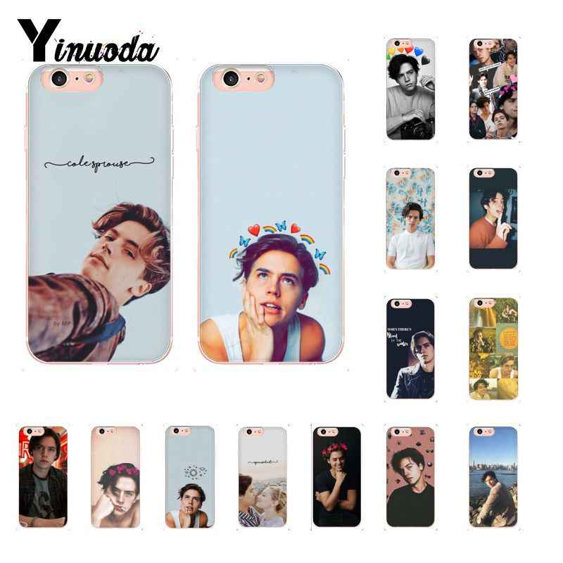 Yinuoda riverdale cole sprouse Jughead Jones Transparent TPU Soft Phone Cover for iPhone X XS MAX 6 6S 7 7plus 8 8Plus 5 5S XR