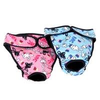 Pet Dog Menstruation Underwear Female Pet Cute Cartoon Sanitary Pants Shorts Physiological Diaper L XL Pet