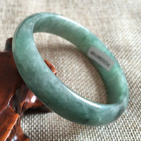 Hot sell >@@ 58mm Certified Grade A Genuine Green Natural stone Bracelet Bangle 0234 NEW Top quality free shipping
