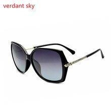 2017 Mujeres Polarizadas gafas de Sol Retro Redondo Grande Frame PC Marca diseño Negro Gafas de Sol de Lujo de Las Señoras de Conducción gafas de sol mujer