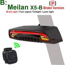 CMeilan X5-B Беспроводной велосипед тормоз заднего света велосипедов Лазерная хвост лампа Smart USB Перезаряжаемые Велоспорт Аксессуары дистанционного включения led