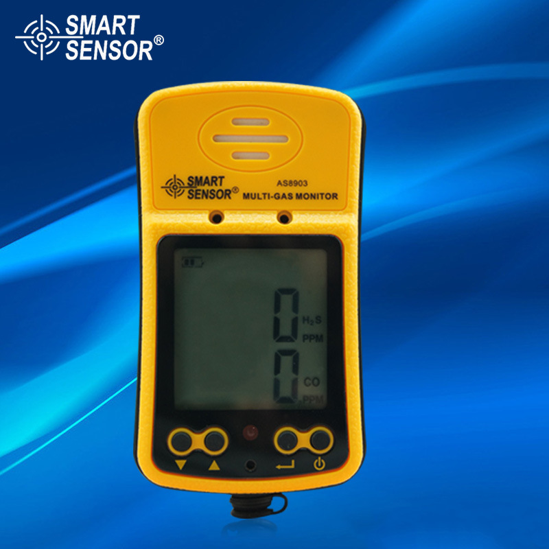 AS8903 Portable Hydrothion Carbon Monoxide Gas Detector Gas Sensor 2 in 1 multifunction toxic gas detector