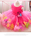 2 3 4 5 6 7 Years Flower Girl Dress Sleeveless Summer Kids Clothes Elegant Baby Girls Dresses Girl Party Dress