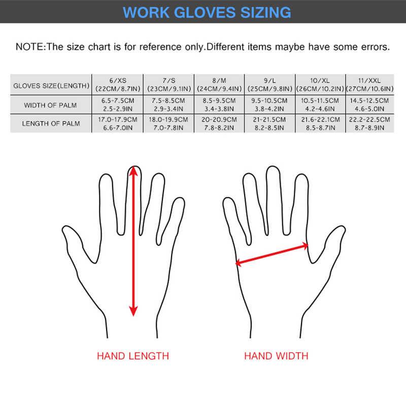 建設手袋 GMG 赤ナイロンシェル黒ニトリル砂コーティング作業安全手袋男性作業手袋