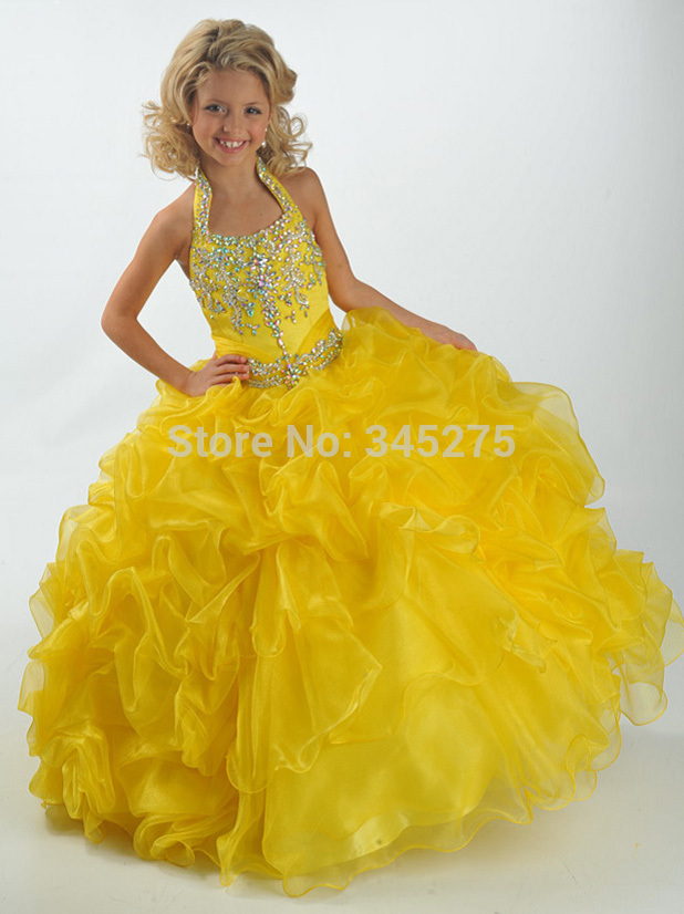 Popular Yellow Toddler Pageant Dresses-Buy Cheap Yellow Toddler ...