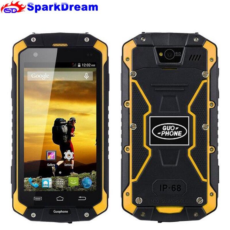 2018 nuevo GuoPhone V9 V19 teléfono con IP68 MTK6580 Android 5,1 3G GPS 2 GB + 16 GB 4,5 pulgadas de pantalla a prueba de golpes a prueba de agua teléfono inteligente