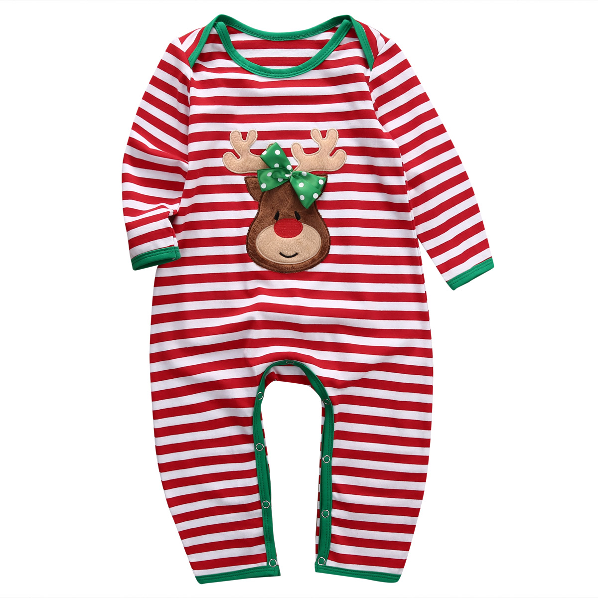 Newborn Baby Romper Baby Girl Boy Christmas Autumn Long Sleeve Striped Romper Jumpsuit Christmas Cotton Romper Clothes Outfit o ring belted striped shirt romper