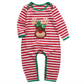 Newborn Baby Romper Baby Girl Boy Christmas Autumn Long Sleeve Striped Romper Jumpsuit Christmas Cotton Romper Clothes Outfit