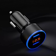 Fast Charging 3.1A LED Digital Display Car Charger Dual USB Port Mobile
