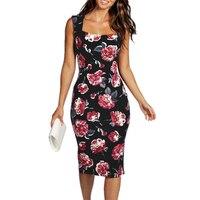 Off Shoulder Women Floral Dresses Fashion Loose Print Sleeveless Sexy Mini Dress Slim Beach Printing Dresses