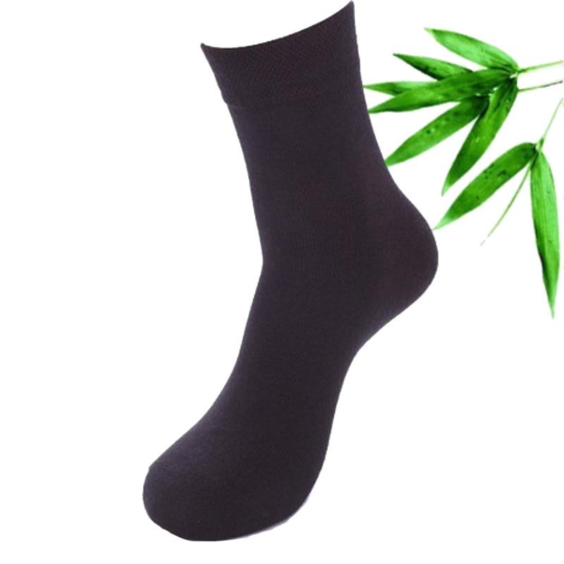 Novedad de alta calidad de la marca 5 par/lote hombres calcetines de algodón y fibra de bambú Calcetines clásicos de los hombres de negocios desodorante vestido Calcetines