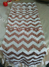 100pcs YHR#103 champagne chevron sequins table runner for any events decoration, customized size available