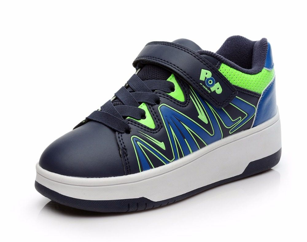 Roller shoes shop - 2017 Heelys New Series Automatic Wheel Shoe Sneakers With Wheels For Children Roller Skates Sports Shoes Kids