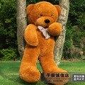 Прекрасный огромный медведь игрушка plushed игрушки милые большие глаза лук мягкую игрушку медведя плюшевого мишку подарок на день рождения коричневый около 80 см