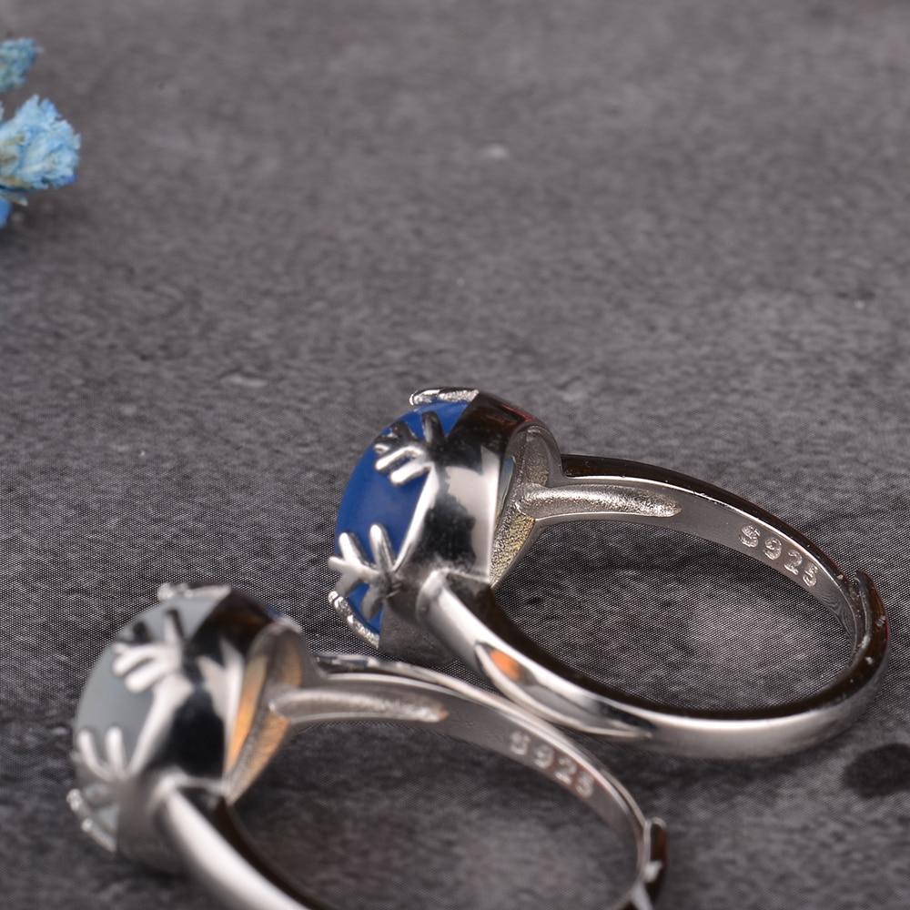 Mosdream moonlight s925 anéis aurora, prata, azul,