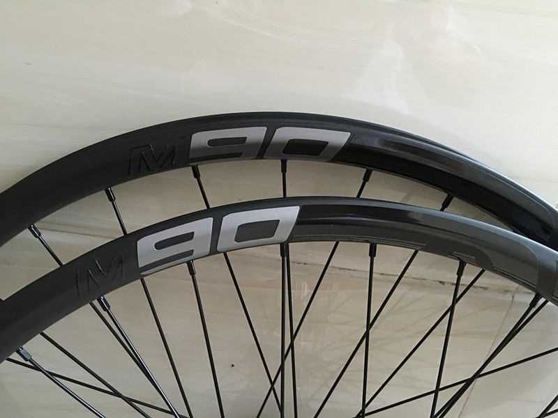 DH M90 AM Asymmetry carbon 29er fiber MTB bike carbon wheels bicycle wheels carbon rim 27.5er carbon Tubeless 650B wheelset