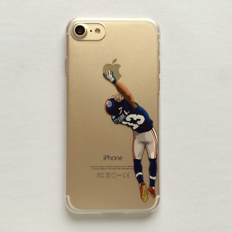 half off c64ca 74e80 Cartoon Clear Case for iphone 8 7 7plus 6 6s 6plus 5 5s American Football  Odell beckham jr Gronk Cam Newton printed Phone Cover