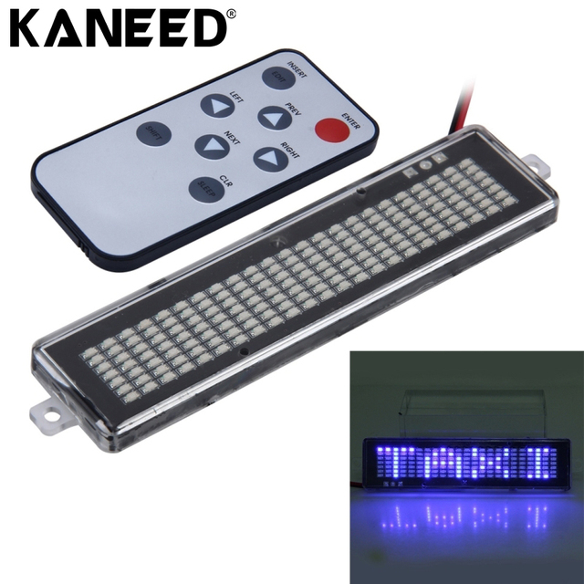 Text Car Scrolling Moving Message Led Display Infrared Remote