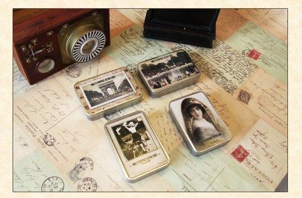 Hot selling casual style cute promotion  kawaii novelty . retro LOMO post card set . 64 sheets per set . iron case