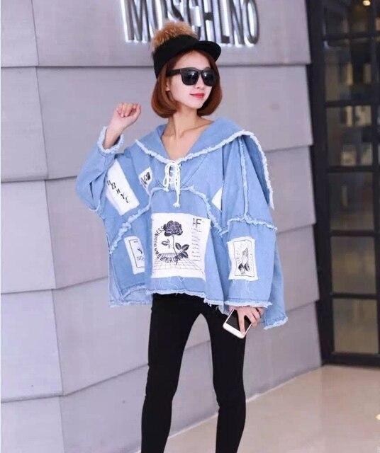 [Скоро ваш] 2017 весенняя мода новый джинсовый жакет женский короткий параграф цветка печати женщины с длинным рукавом женщин KS0765