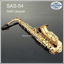 French Selmer Hot Sale Saxophone Alto Eb boquilha Saxophone 54 Mouthpiece Alto Sax Electrophoresis Professional instruments