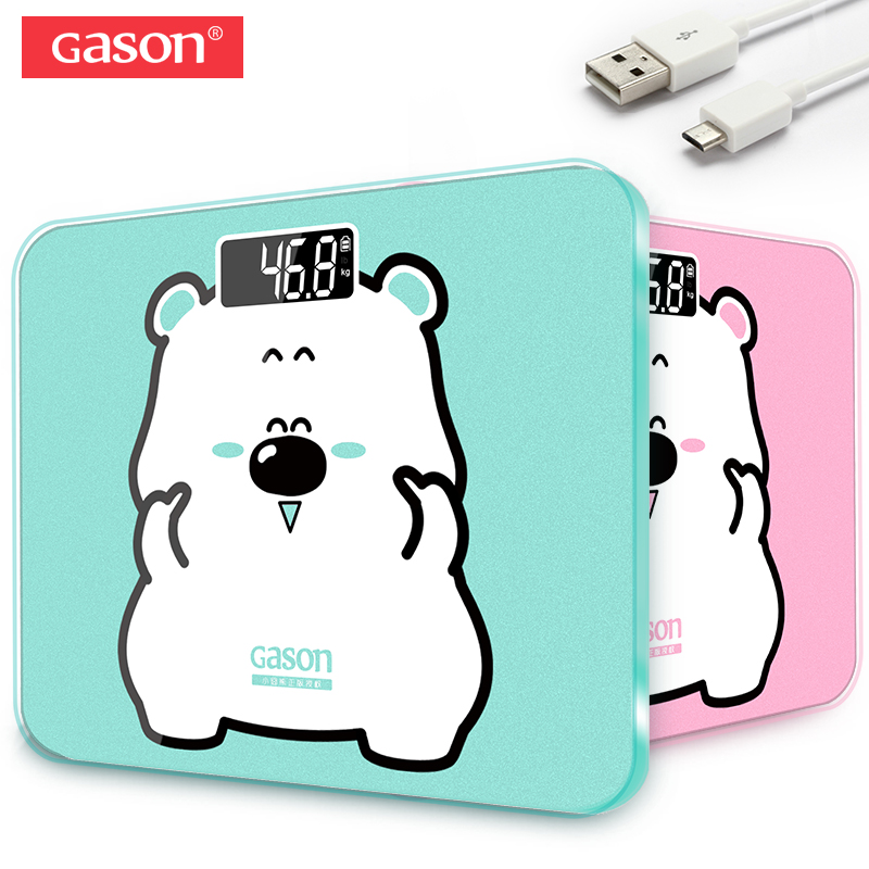 GASON A3s USB Charging Scale LCD Digital Display Weight Weighing Floor Electronic Smart Balance Body Household Bathrooms 180KG