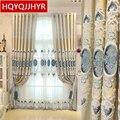 Затемненные шторы с вышивкой в европейском стиле для гостиной  классические высококачественные шторы для спальни на заказ