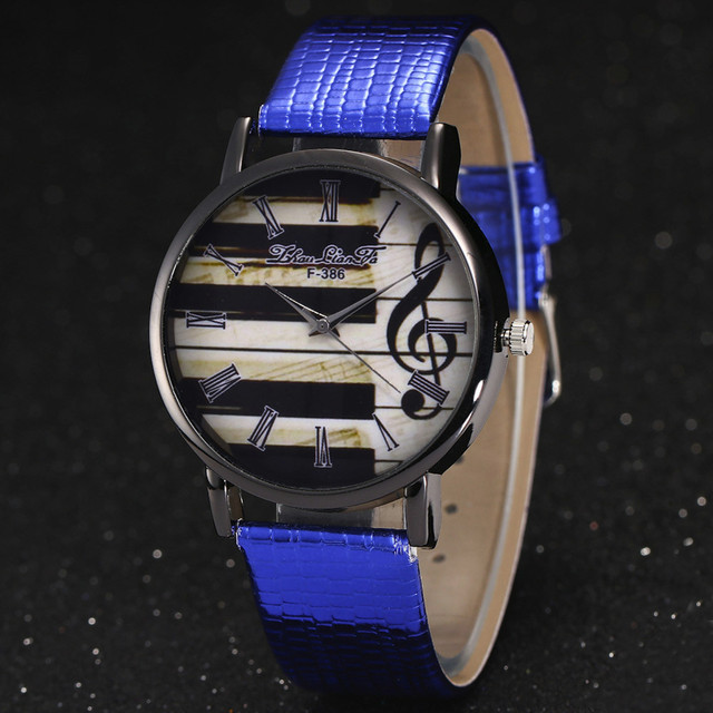 2017 New Relogio Feminino Sale Piano Musical Notation Retro Casual Quartz Watch Female PU Leather Women Watches Relojes Mujer