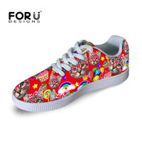 2016 Preppy Style Casual Platform Shoes For Women Girls Cute Kitty Cat Skate Board Shoes Kawaii