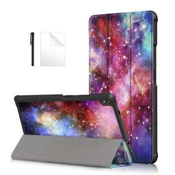 Slim Flip Funda de cuero PU para Lenovo Tab 4 8 Plus TB-8704X TB-8704F TB-8704N cubierta para Lenovo Tab4 8 Plus caso + película + Pen