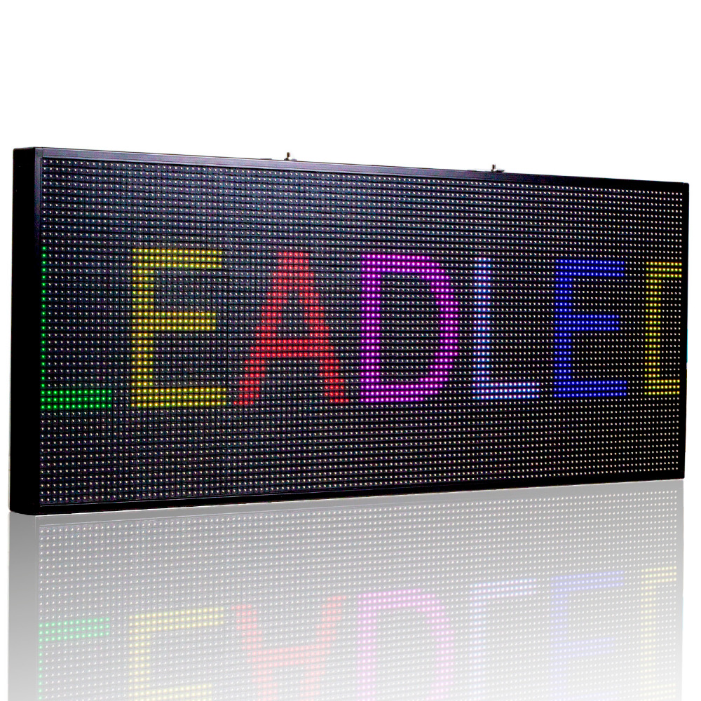 51*20 Inch P10 SMD Full Color LED Sign / Led Display Board,RGB Scrolling Led Message Sign Use In Restaurants Hotels Shops, Etc