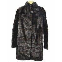 2018ladies new natural mink fur yellow wolf fur long coat real fur winter warm fashion European jacket
