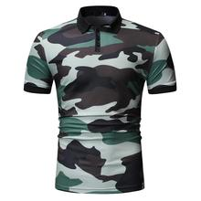 Camouflage Men Polo Shirt Men's Clothing Tops Casual Tees Polo Shirt Men Short sleeve Lapels Blue Army Green New все цены
