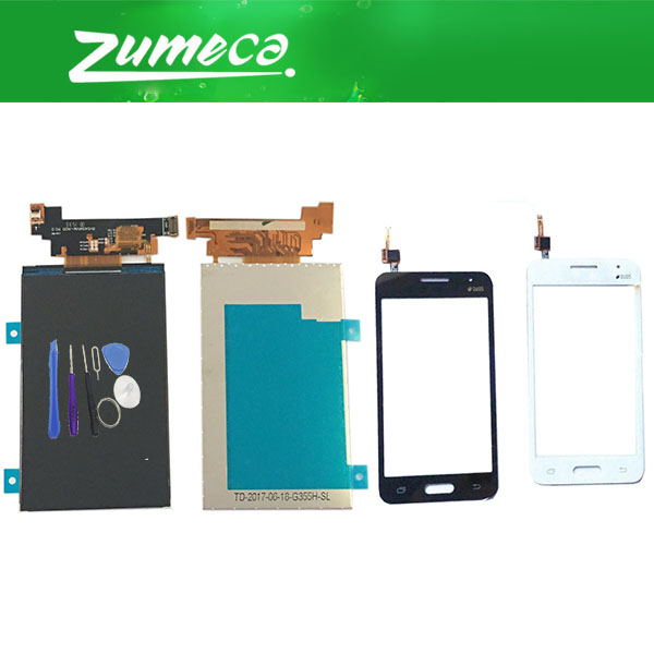 For Samsung Galaxy DUOS Core 2 SM-<font><b>G355H</b></font> G355M <font><b>G355H</b></font> G355 LCD <font><b>Display</b></font> Screen + Touch Screen Digitizer White Black Color+Free Tool image