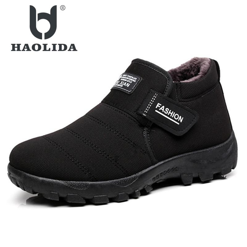 2018 New Men Boots Winter With Velvet Warm Snow Boots Men Shoes Footwear Fashion Male Rubber Winter Ankle Boots Work Shoes цены онлайн