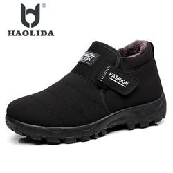 2018 New Men Boots Winter With Velvet Warm Snow Boots Men Shoes Footwear Fashion Male Rubber Winter Ankle Boots Work Shoes
