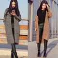 Spring New Women Knitted Coat Long Cardigan Thickening Coat Casual Loose Knitted Sweater Outwear Top