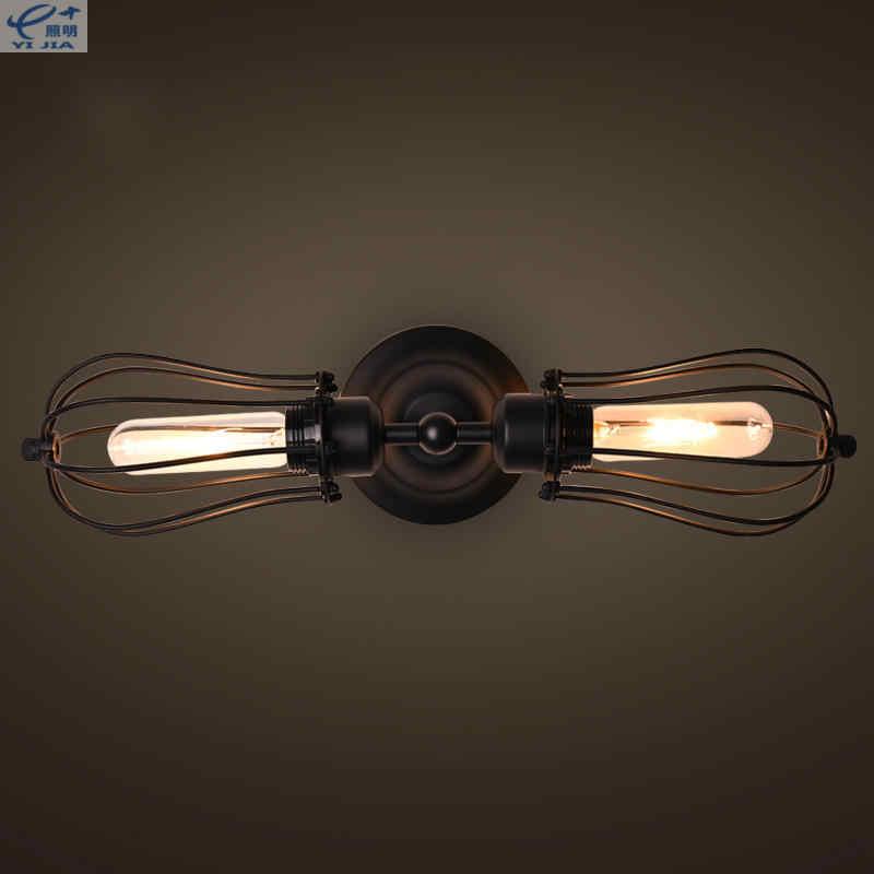 Индустриальный Лофт 2 Металлика с девятью патронами ржавчина водопроводная труба Ретро настенная лампа Винтаж e27 светильники бра в простом стиле для гостиной, спальни, Ресторан Бар
