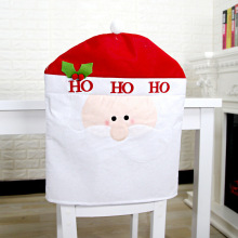 Smiry Christmas Decorative Chair Cover Woolen Fabric Cartoon Santa Claus Snowman Deer Xmas Seat For