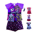 Summer Brand Toddler Girl Clothing Set Ever After High T Shirt Tops + Pants Monster Pajamas Short Sleeve Baby Girl Clothes Kids