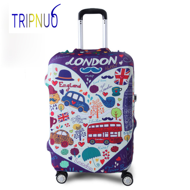 TRIPNUO Graffiti Cover for Suitcase Travel Elasticity Luggage Protective Covers Elastic Travel Accessories Trolley Case Cover
