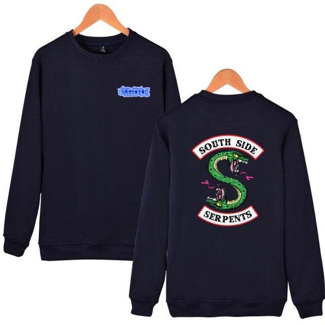 Mens Riverdale Print Loose Oversized Hooded Sweatshirt | 2017 Brand New Male Plus-size Casual Hoodies Men Streetwear Hoodie