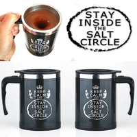 Keep Clam And Stay Inside The Salt Circle 400Ml Mug Automatic Electric Lazy Self Stirring Mug