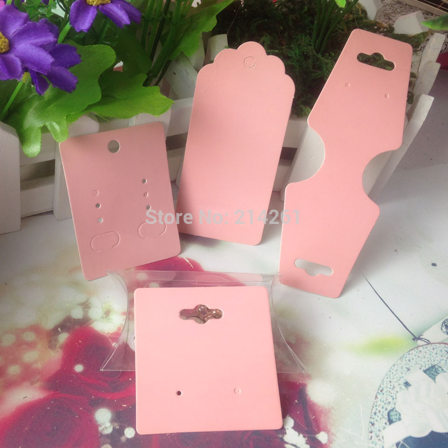 Pink Diy Necklace Card Earring Card Hang Tag Card 1lot =5 items =1 ...