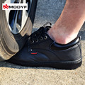 Modyf мужские стальной носок защитной обуви кожа повседневная дышащий открытый туризм сапоги прокол доказательство защиты, обувь