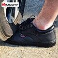 Modyf biqueira de aço calçados de segurança de trabalho de couro dos homens casuais ao ar livre respirável caminhadas botas calçados de proteção à prova de punção