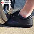 Modyf hombres de trabajo puntera de acero zapatos de seguridad de cuero calzado casual transpirable botas de montaña al aire libre de protección a prueba de pinchazos