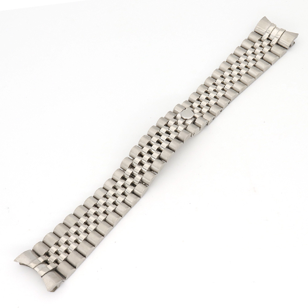 20mm Silver Top Solid Stainless Steel Jubilee President Bracelet Wristband Exchange Watchband Watch Band Belt Loop20mm Silver Top Solid Stainless Steel Jubilee President Bracelet Wristband Exchange Watchband Watch Band Belt Loop