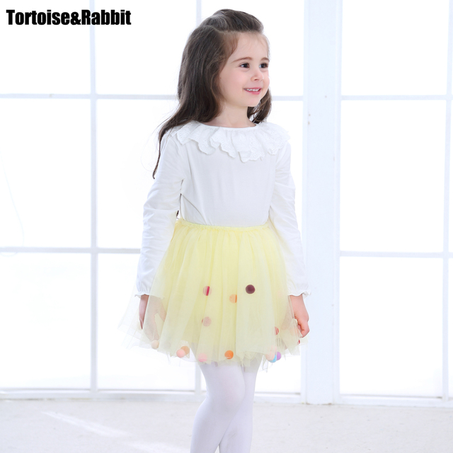 e42b50db1889 Summer Girls Tutu Skirt Kids Princess Skirts Pure Color Miniskirt ...