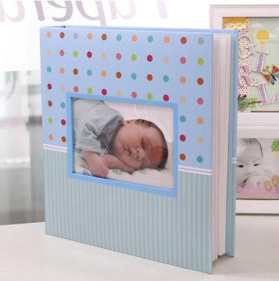 5 inch baby growth diy paper photo album 200 pieces child albunes de
